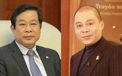 Ông Nguyễn Bắc Son (trái) và Phạm Nhật Vũ